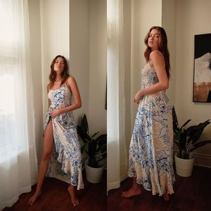 NWT Free People Forever Yours Smocked Slip